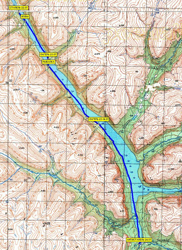 части маршрута. 58 км